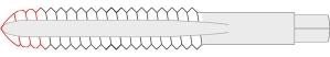 Intermediate thread tap (in the USA it's called a Plug Tap)