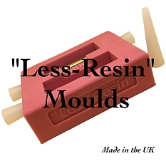 Less-Resin pen blank casting moulds