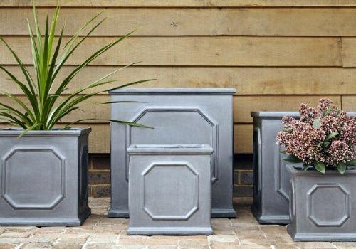 Faux Lead Clayfibre planters