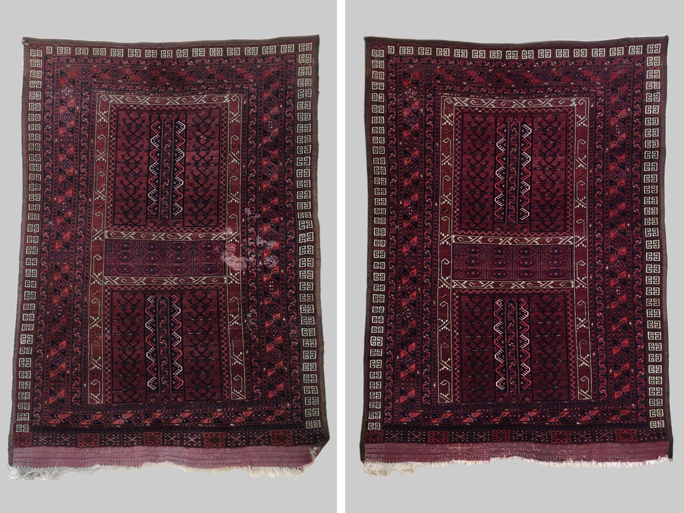 Cleaning Antique Turkmen rug