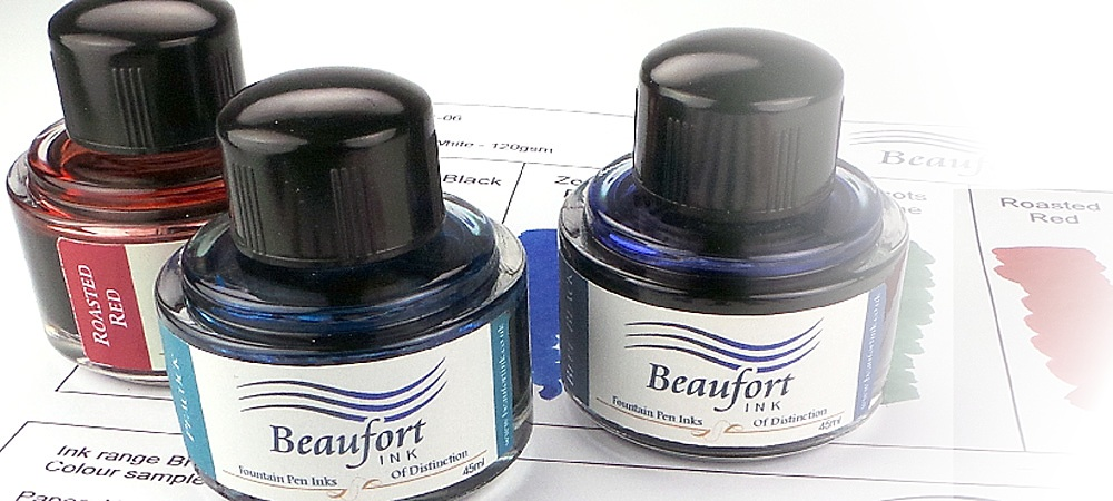 Our fountain pen inks are available in a choice of sumptuous colours