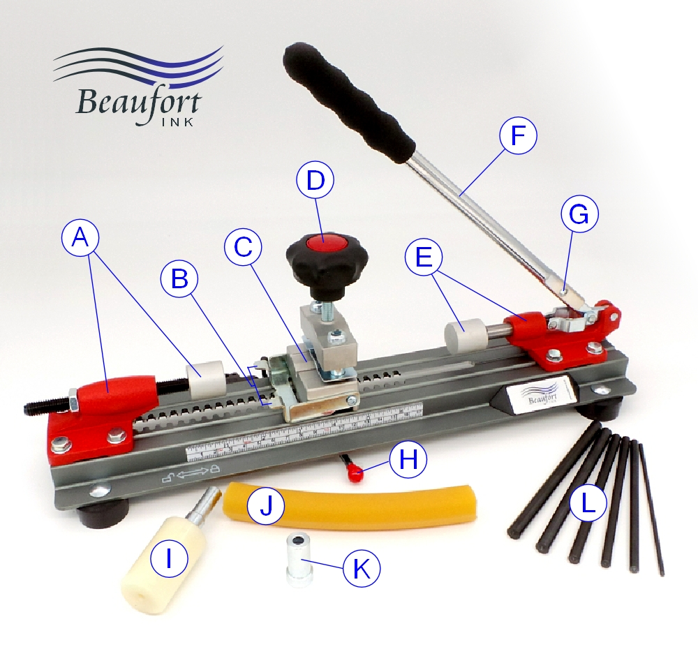 Beaufort pen assembly / disassembly press - identifying the parts