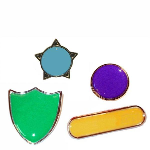 Plain Colour House Badges