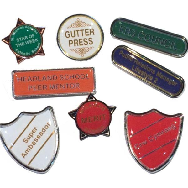 custom text badges