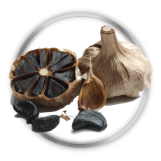 Black garlic natural laxative
