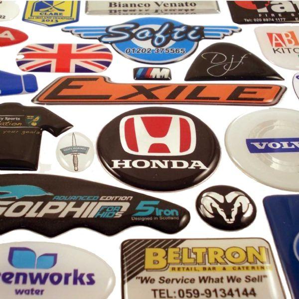 custom design domed labels