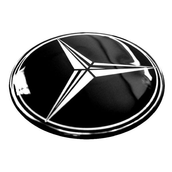 Domed car wheel badges.