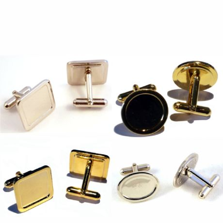 Cufflinks with Prinred Domes.