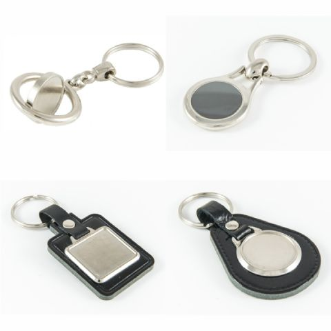 Keyring and Keyfob Blanks with Printed Domes.