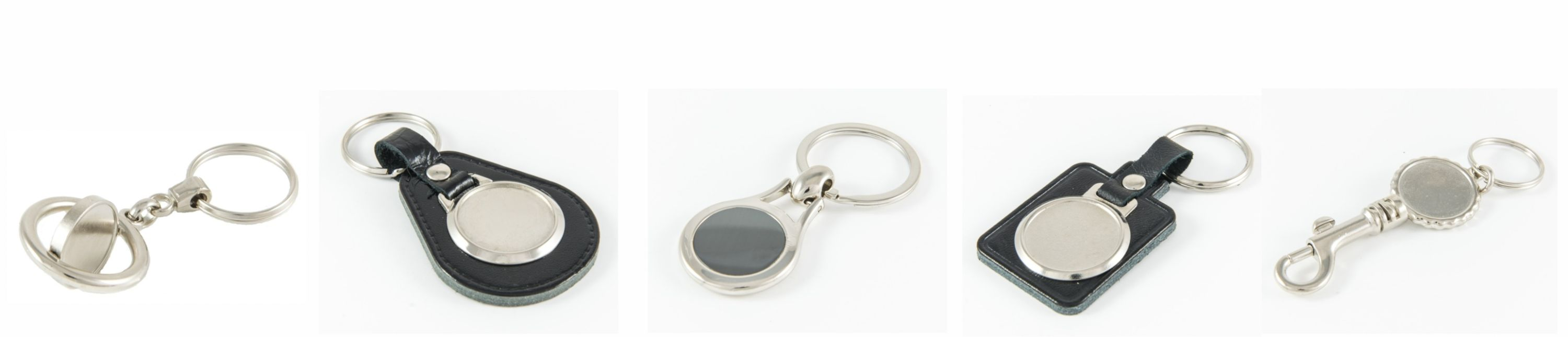 Keyrings and Keyfobs with Clear Domes.