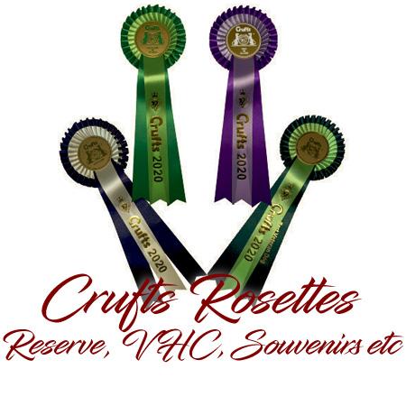 Crufts Rosettes - Reserve, VHC, Souvenirs etc