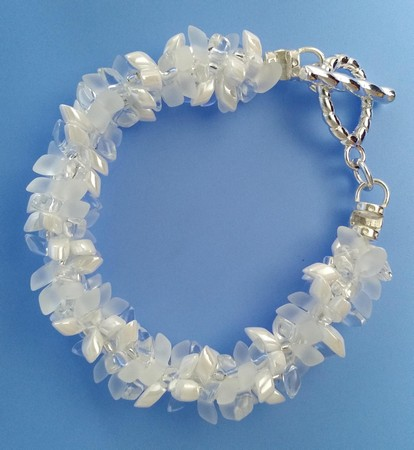 White on White Kumihimo Bracelet