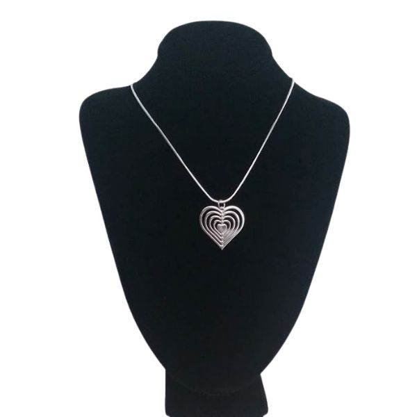 Five Layered Heart Necklace