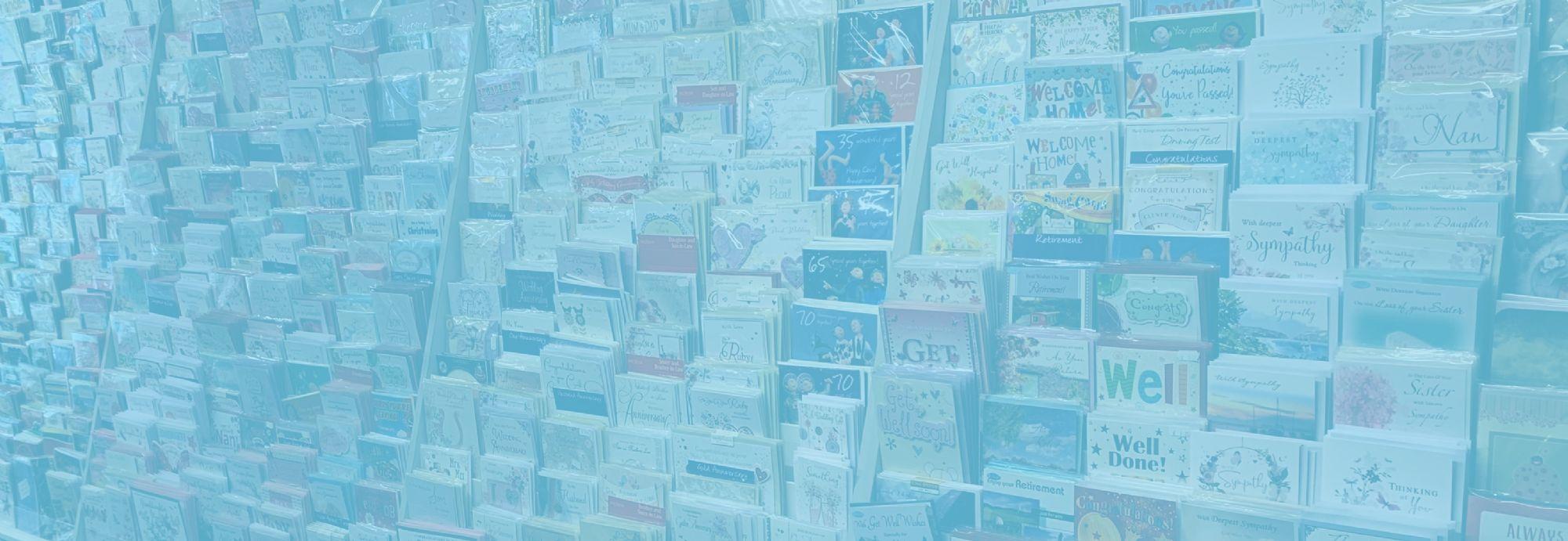cards blue tint
